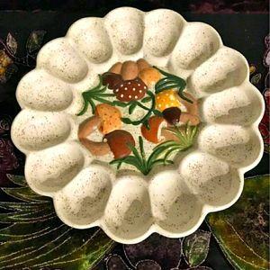 Arnels mushroom egg platter